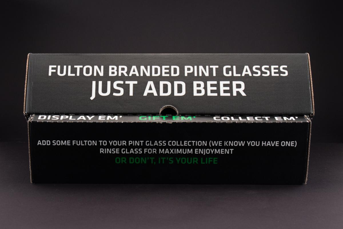 Fulton Branded Pint Glasses (4pk)