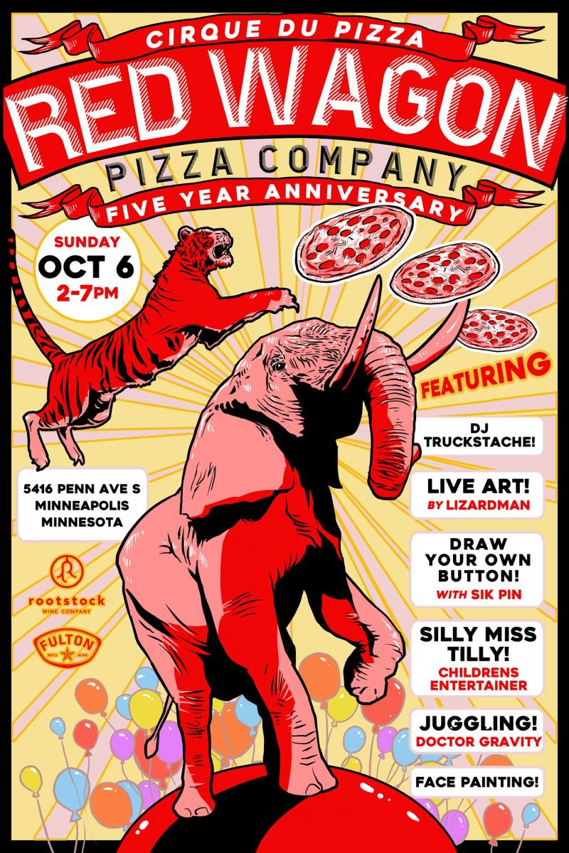Red Wagon Pizza Party