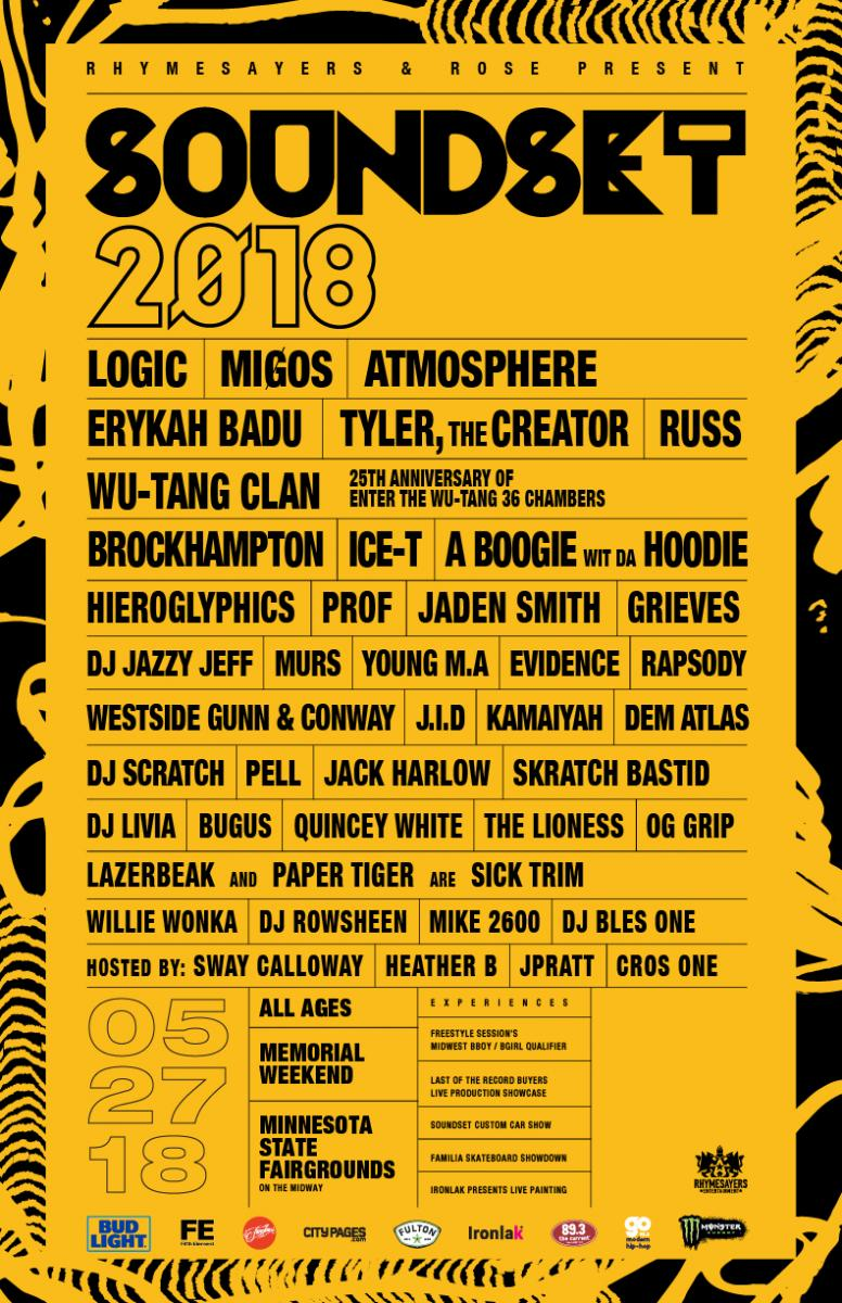 Soundset 2018 Musical Lineup
